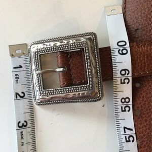 Chico's Accessories - Chico's Brown Pebbled Leather Belt